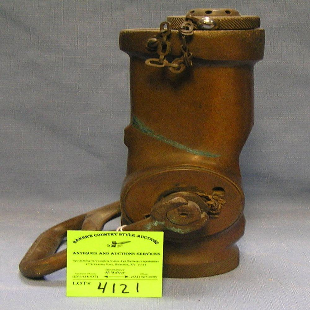 ANTIQUE SOLID BRASS FIRE DEPARTMENT SPRAY NOZZLE