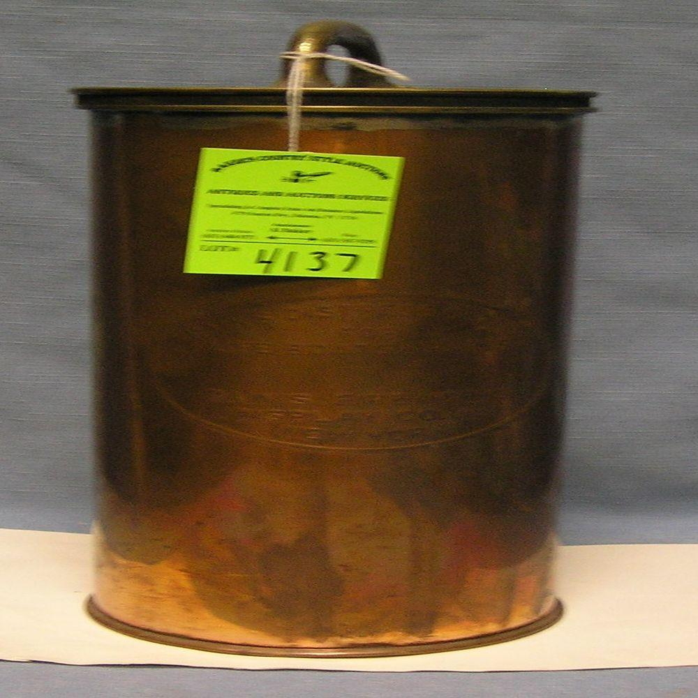 EARLY SOLID COPPER LIFEBOAT DISTRESS KIT