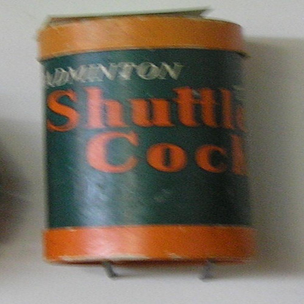 VINTAGE BADMINTON SHUTTLECOCKS CONTAINERS