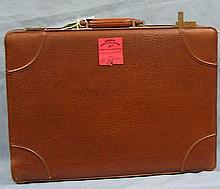 Vintage leather gentleman?s briefcase