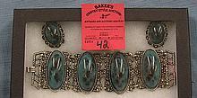 Vintage bracelet and earring set
