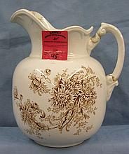 Antique fall decorated water pitcher