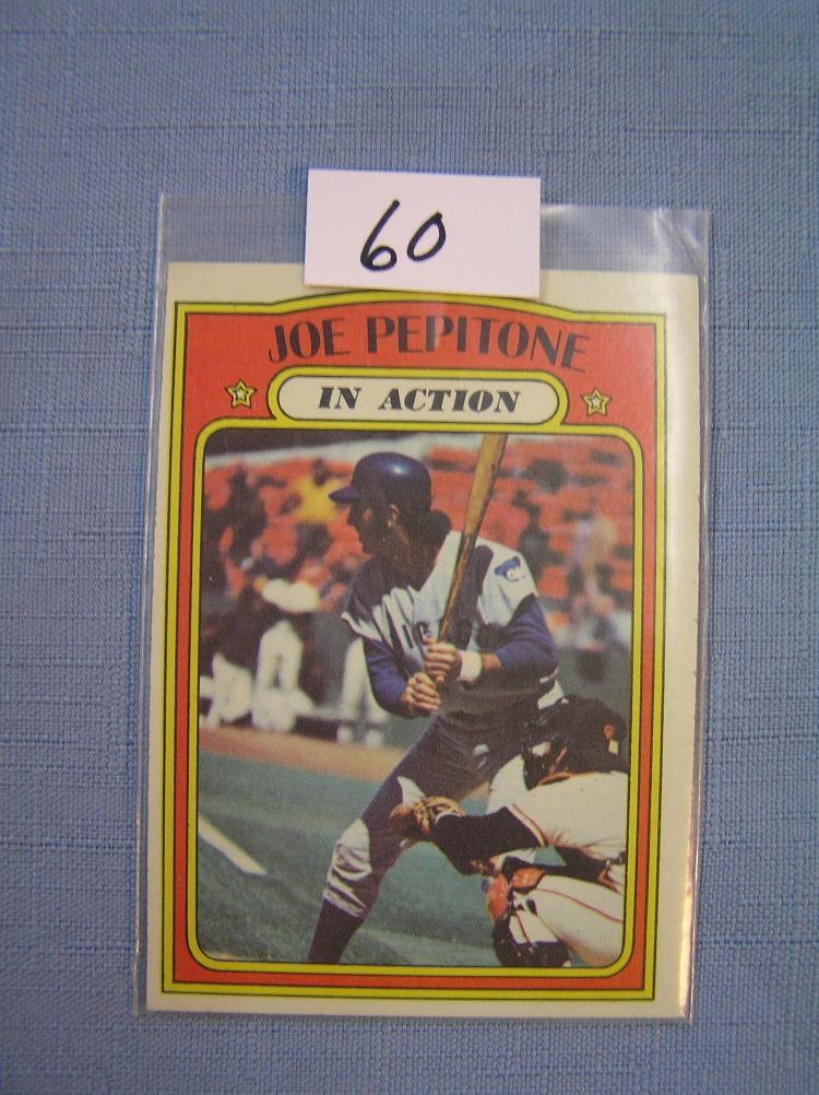 Vintage Joe Pepitone Baseball Card