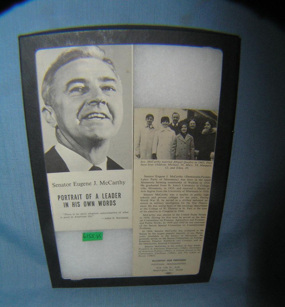 Senator Eugene J. McCarthy campaign booklet