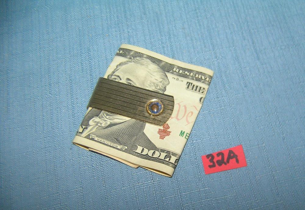 Vintage gold plated money clip