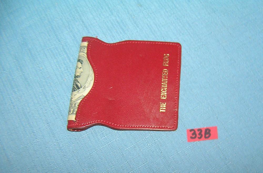 Vintage bill fold money clip