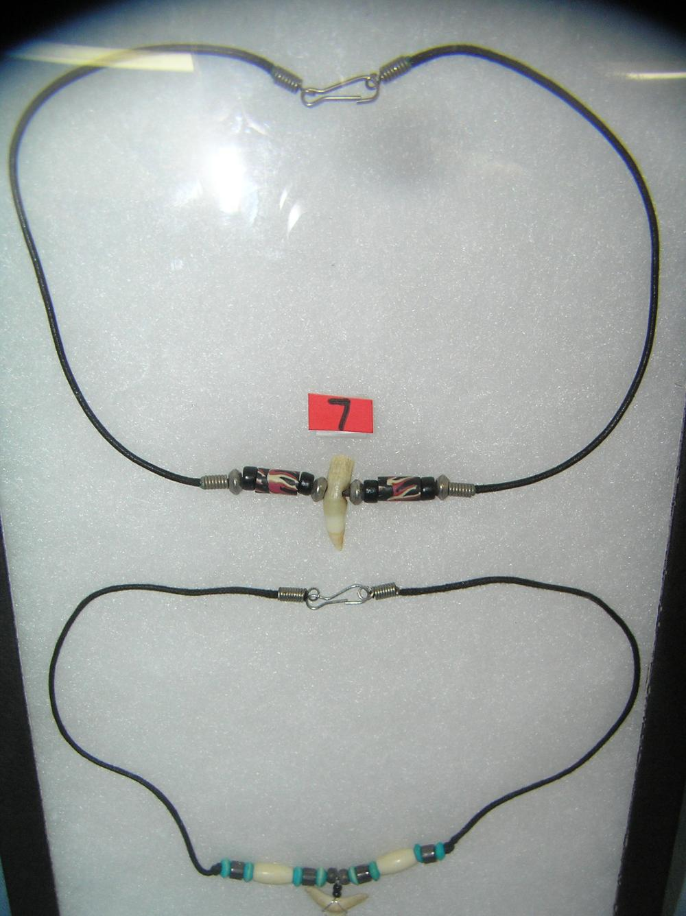 Lot 7: PAIR OF HAND MADE NECKLACES