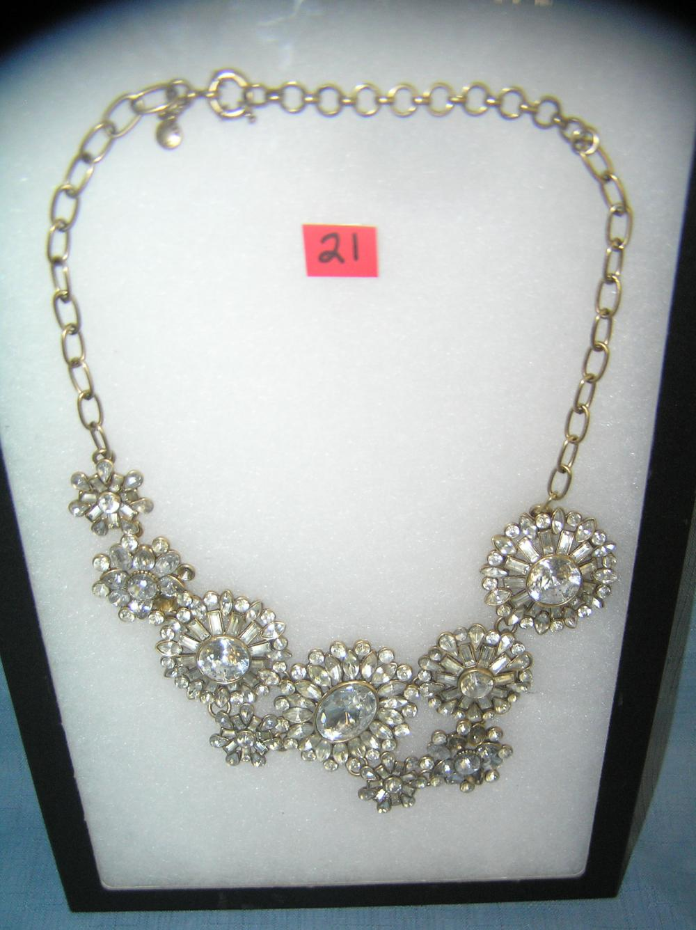 VINTAGE J. CREW COSTUME JEWELRY NECKLACE
