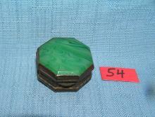 Lot 54: GREAT TURQUOISE DECORATIVE PILL BOX