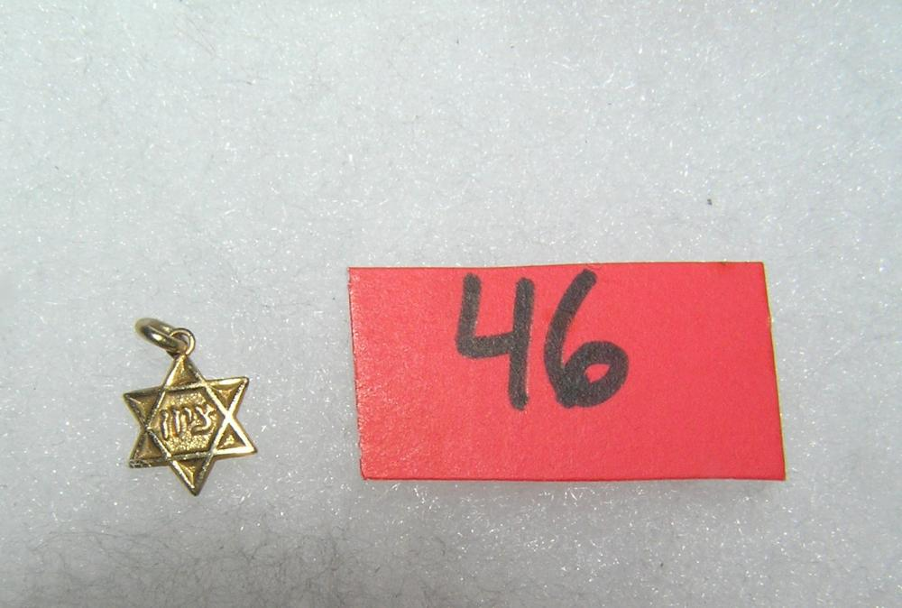 GOLD PLATED JEWISH STAR PENDANT