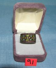 Lot 91: HIGH QUALITY DESIGNER COSTUME JEWELRY RING