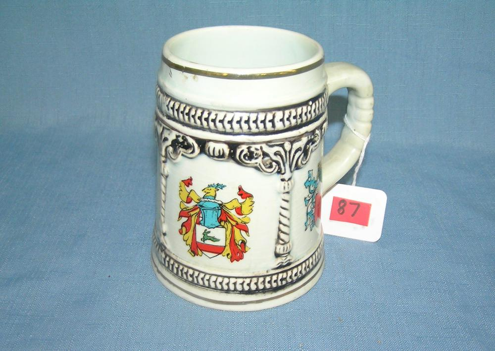 MULTIPLE CREST DECORATIVE BEER STEIN