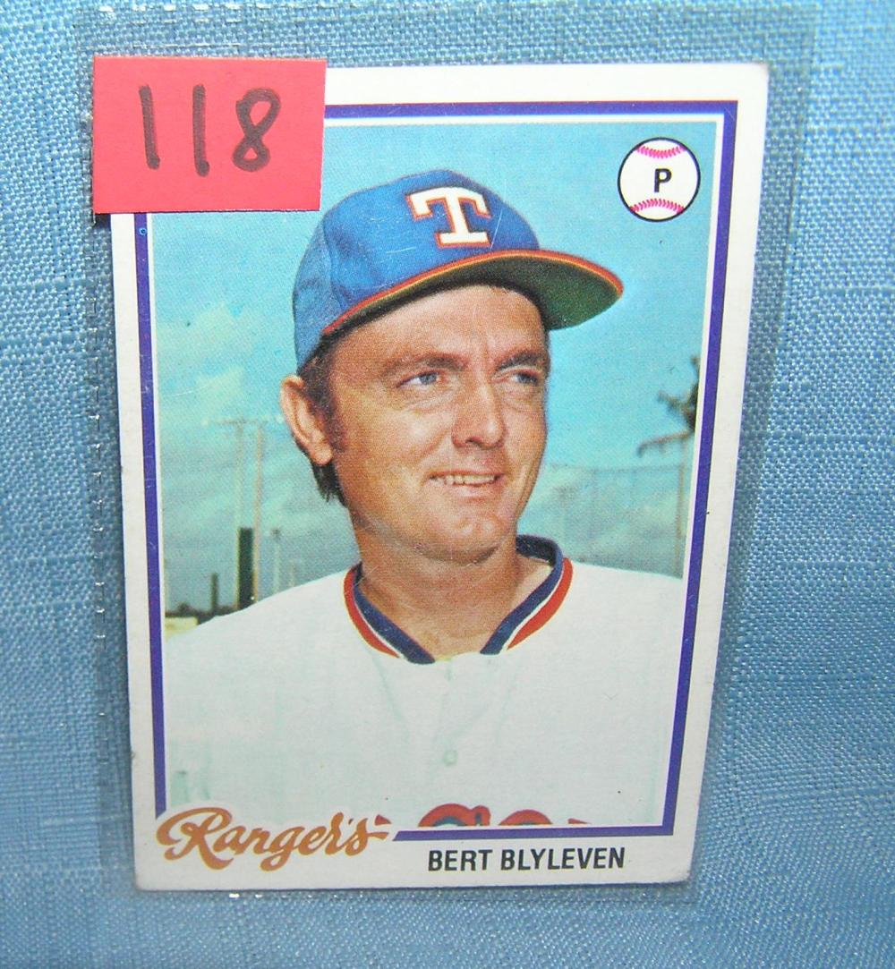 VINTAGE BERT BLYLEVEN ALL STAR BASEBALL CARD