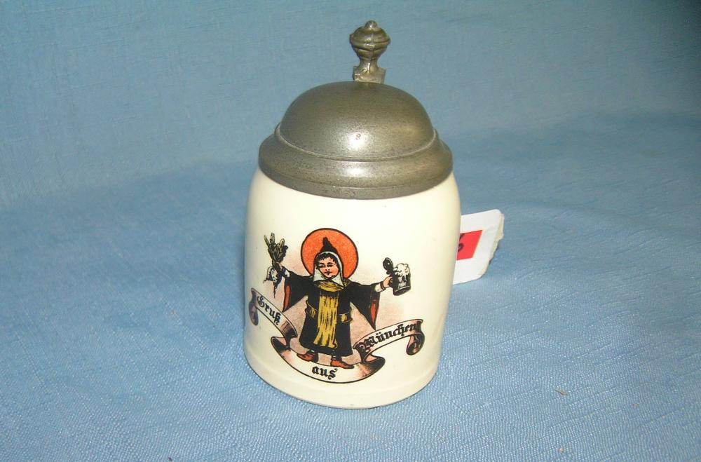 QUALITY BEER STEIN WITH PEWTER LID