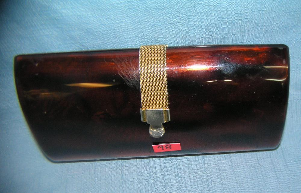 QUALITY BRASS AND LUCITE PURSE