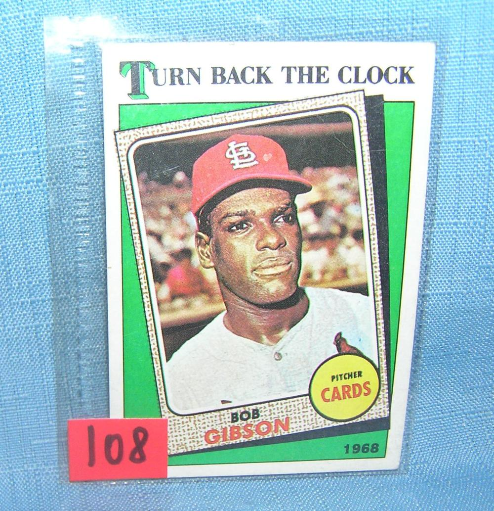 Lot 108: VINTAGE BOB GIBSON ALL STAR BASEBALL CARD