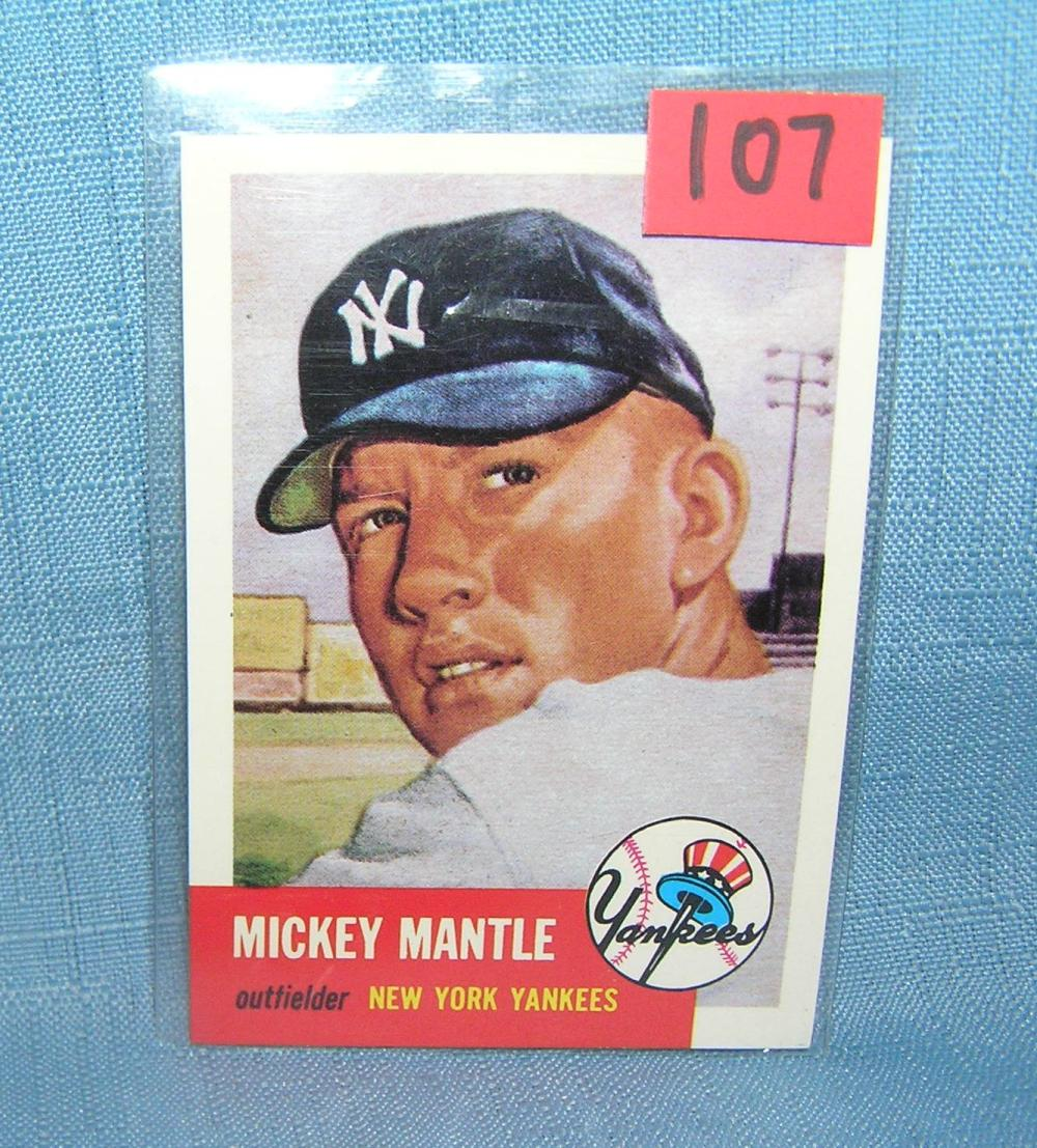 MICKEY MANTLE TOPPS REPRINT BASEBALL CARD