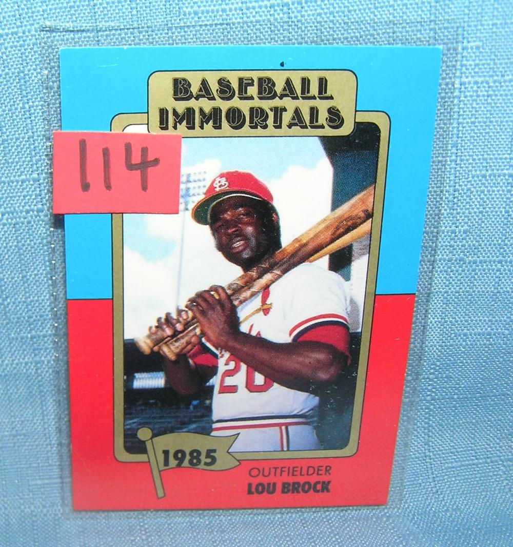 LOU BROCK BASEBALL IMMORTAL BASEBALL CARD