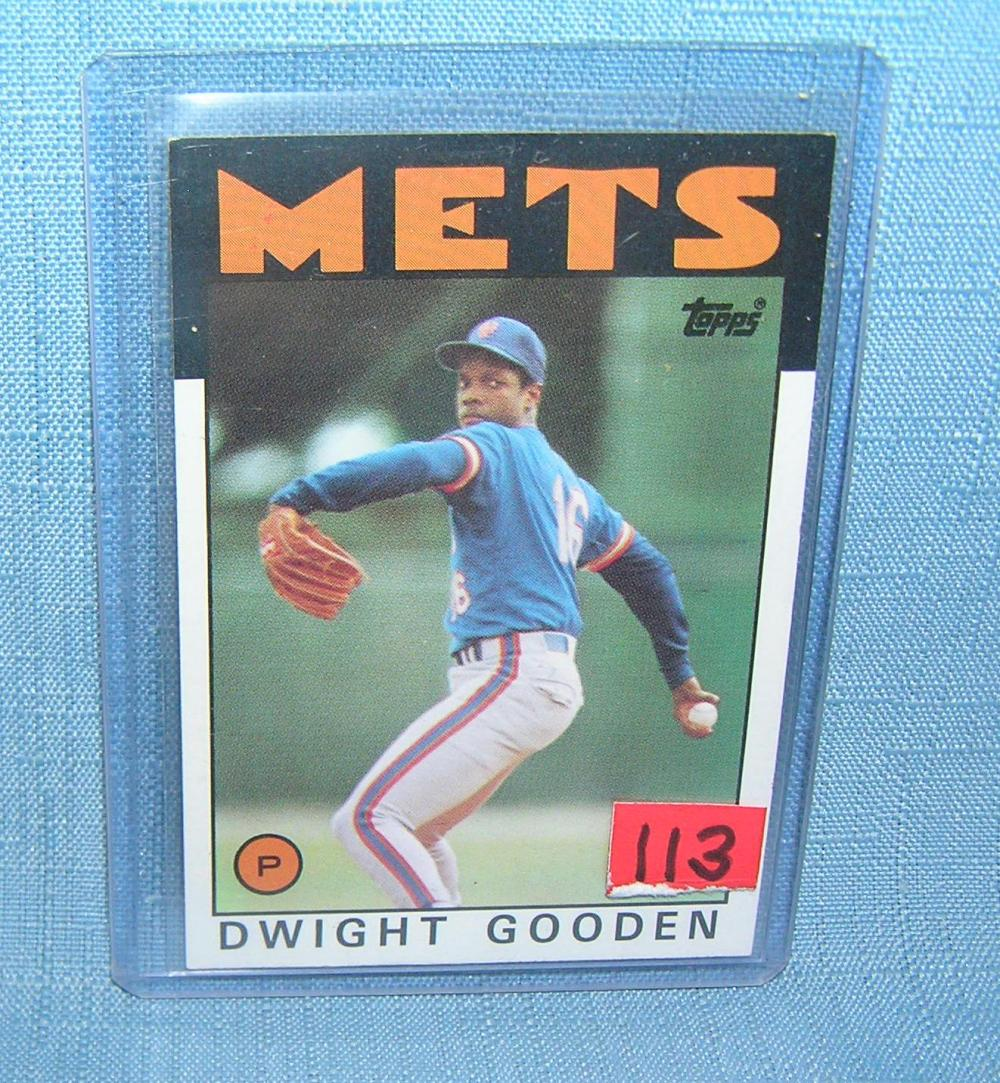 EARLY DWIGHT GOODEN 2ND YEAR ALL STAR BASEBALL CARD