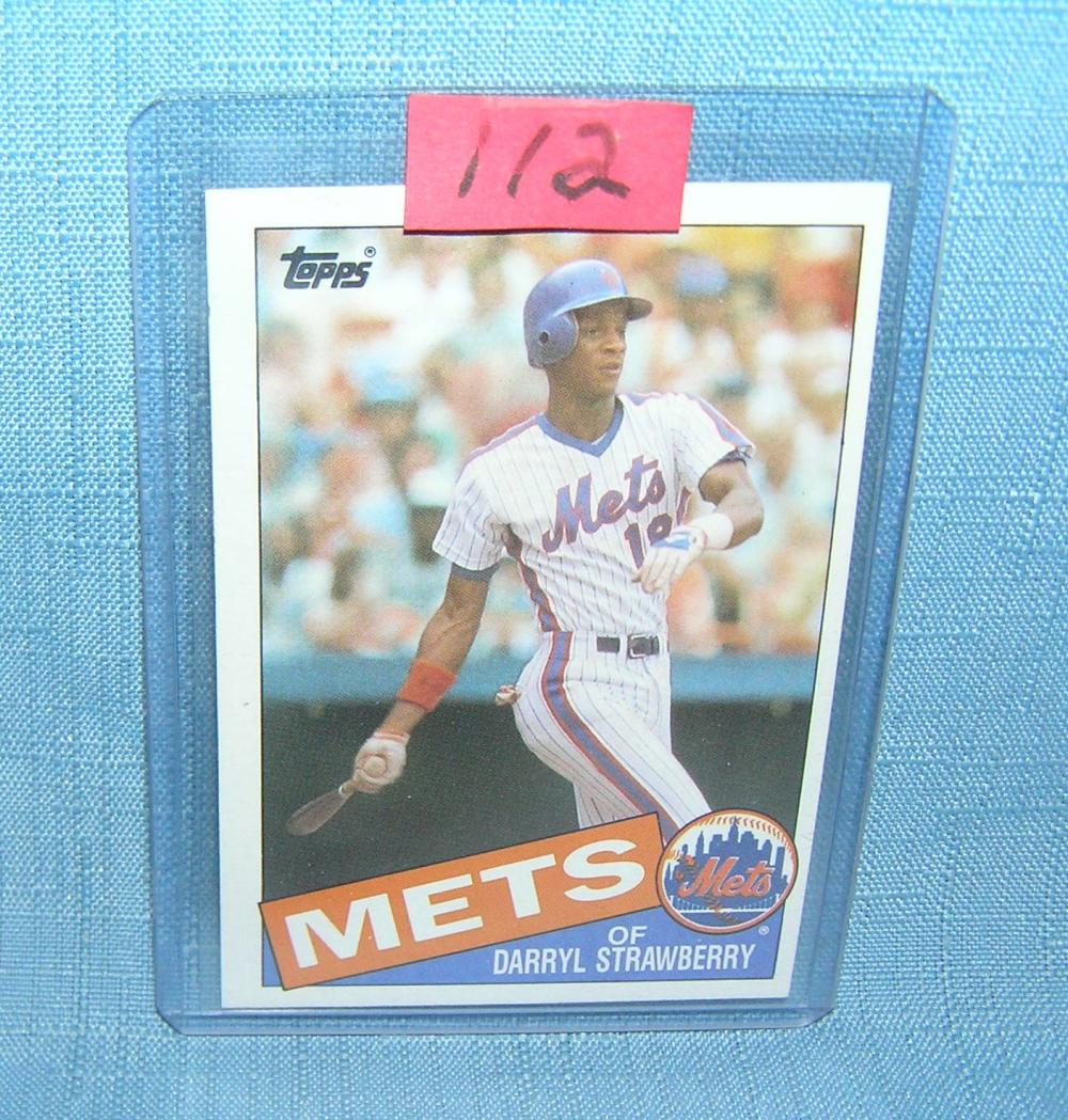 EARLY DARRYL STRAWBERRY 2ND YEAR ALL STAR BASEBALL CARD