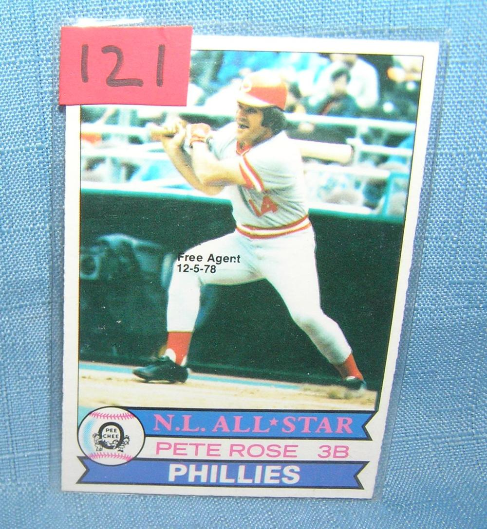 Lot 121: VINTAGE PETE ROSE O-PEE-CHEE ALL STAR BASEBALL CARD
