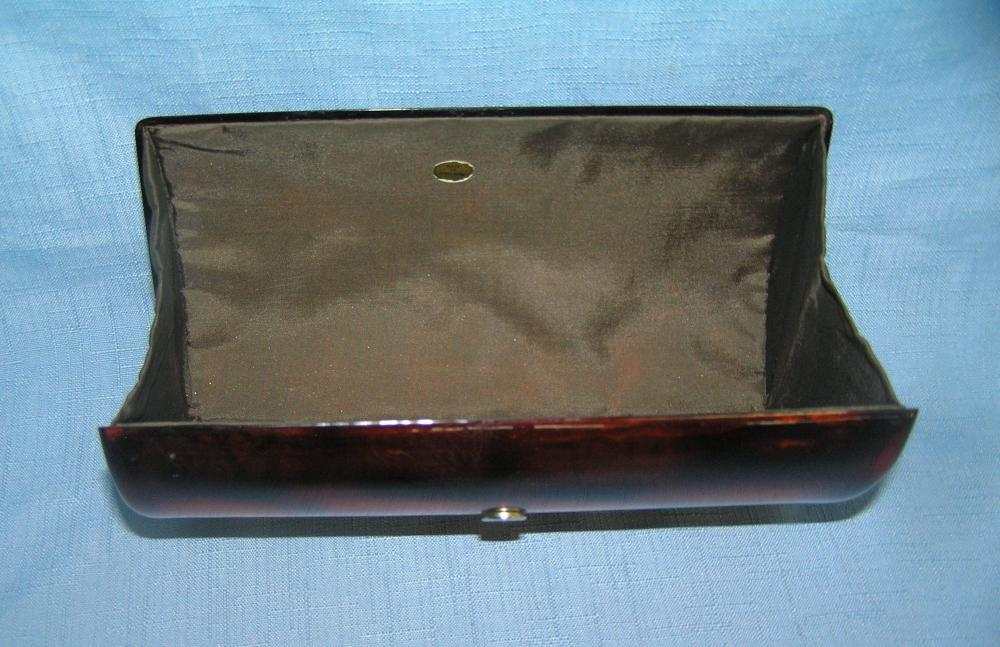 Lot 98: QUALITY BRASS AND LUCITE PURSE