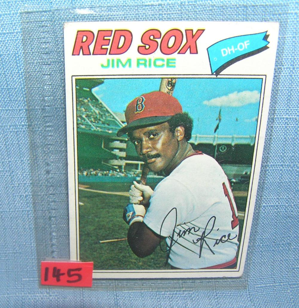 EARLY JIM RICE ALL STAR BASEBALL CARD