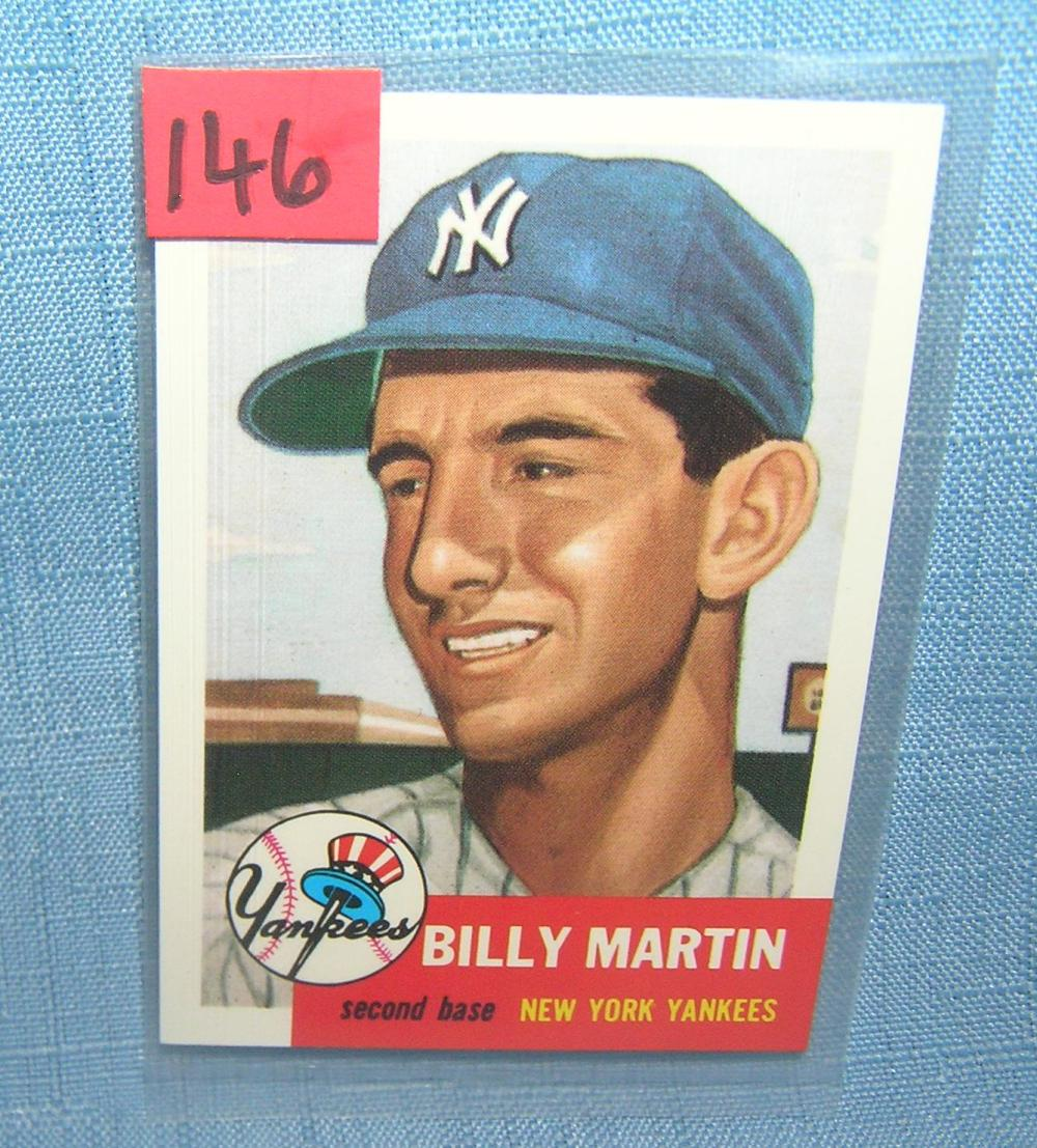 BILLY MARTIN ALL STAR RETRO BASEBALL CARD