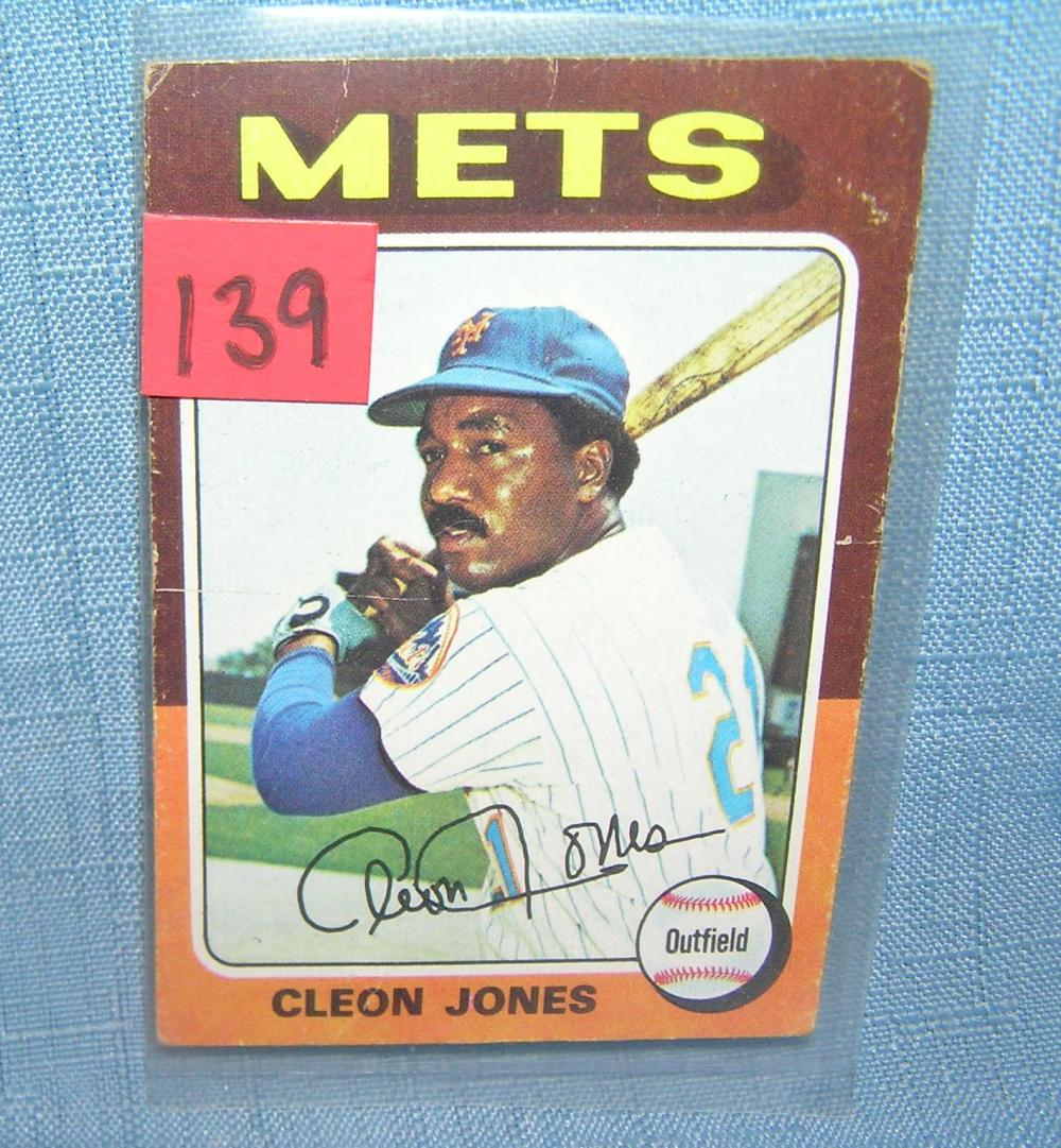 VINTAGE CLEON JONES NY METS ALL STAR BASEBALL CARD
