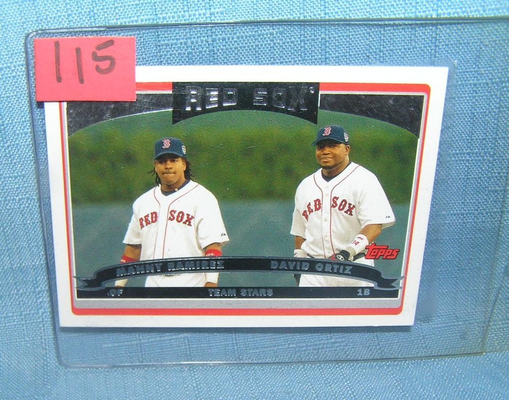 DAVID ORTIZ AND MANNY RAMIREZ ALL STAR BASEBALL CARD