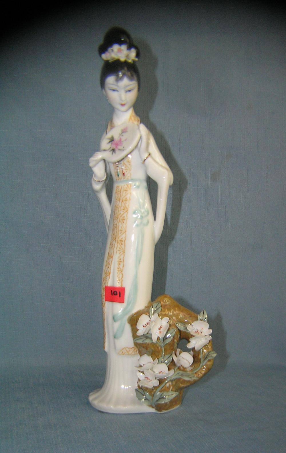 PORCELAIN HAND PAINTED GEISHA GIRL FIGURINE