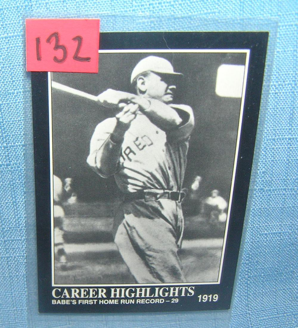 BABE RUTH ALL STAR BASEBALL CARD