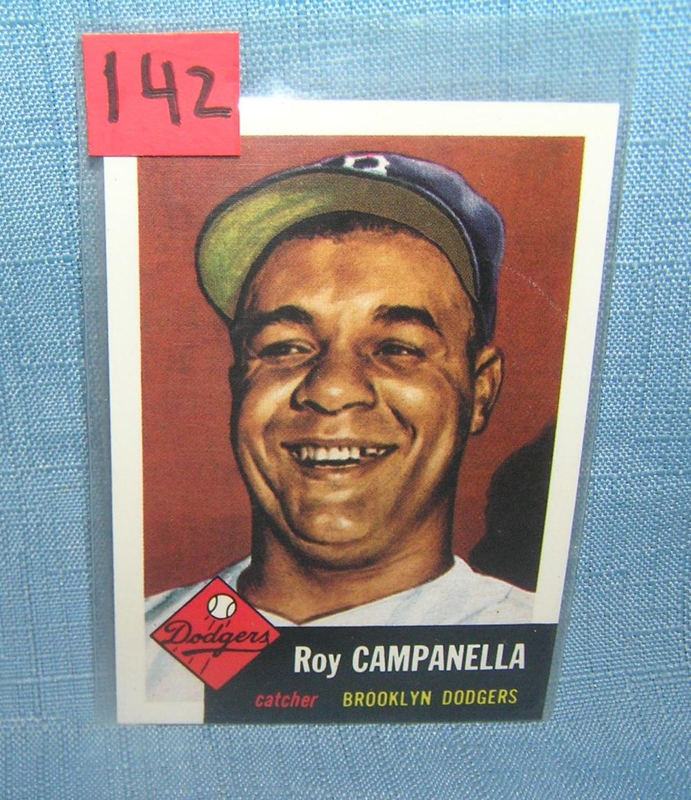 ROY CAMPANELLA ALL STAR RETRO BASEBALL CARD