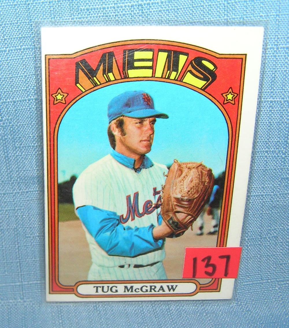 VINTAGE TUG MCGRAW NY METS ALL STAR BASEBALL CARD