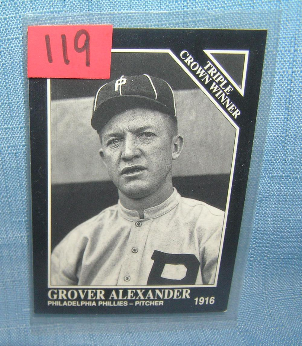 GROVER ALEXANDER  ALL STAR BASEBALL CARD