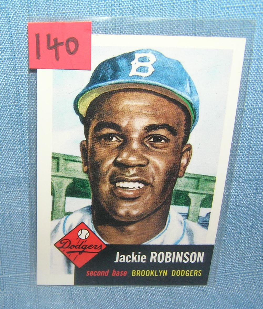JACKIE ROBINSON ALL STAR RETRO BASEBALL CARD
