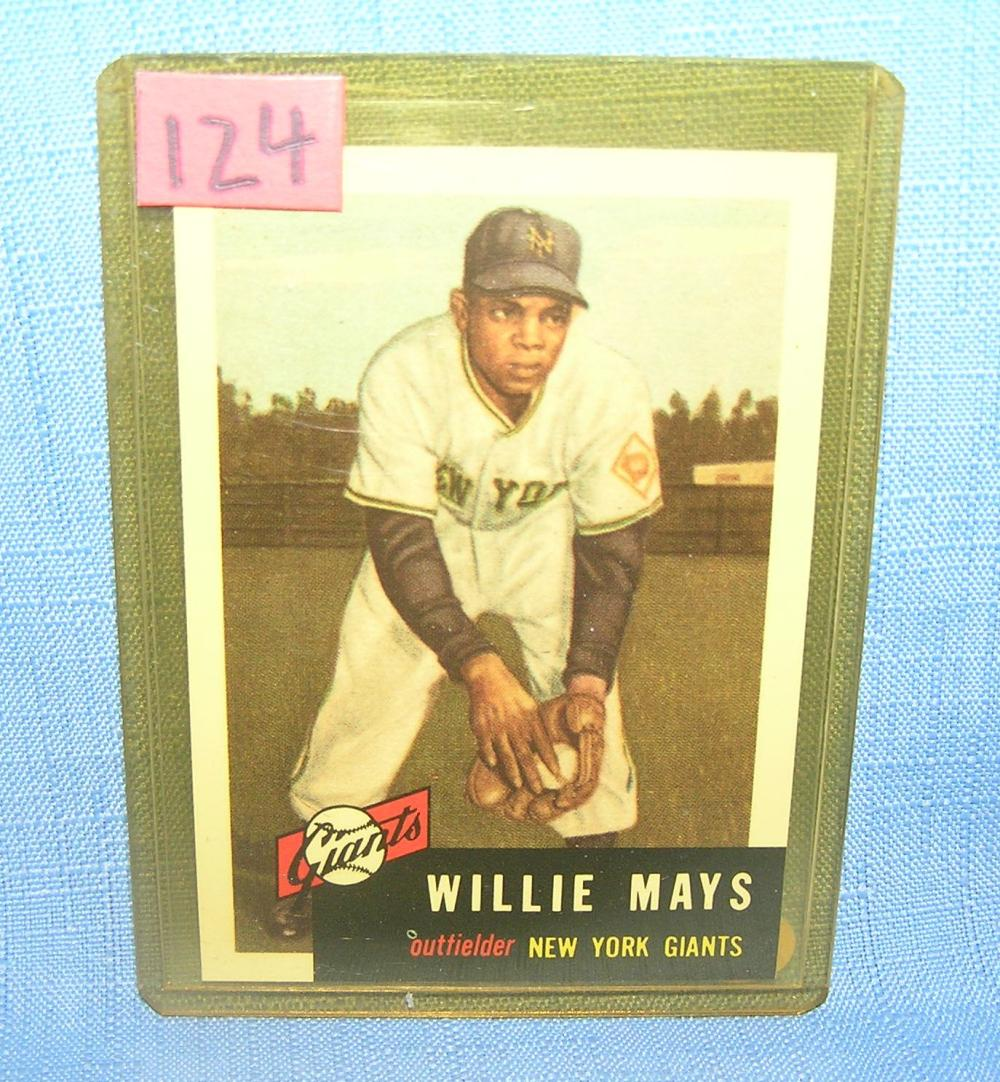 WILLIE MAYS  ALL STAR RETRO BASEBALL CARD
