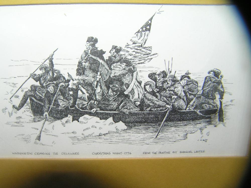 Lot 105: WASHINGTON CROSSING THE DELAWARE PRINT