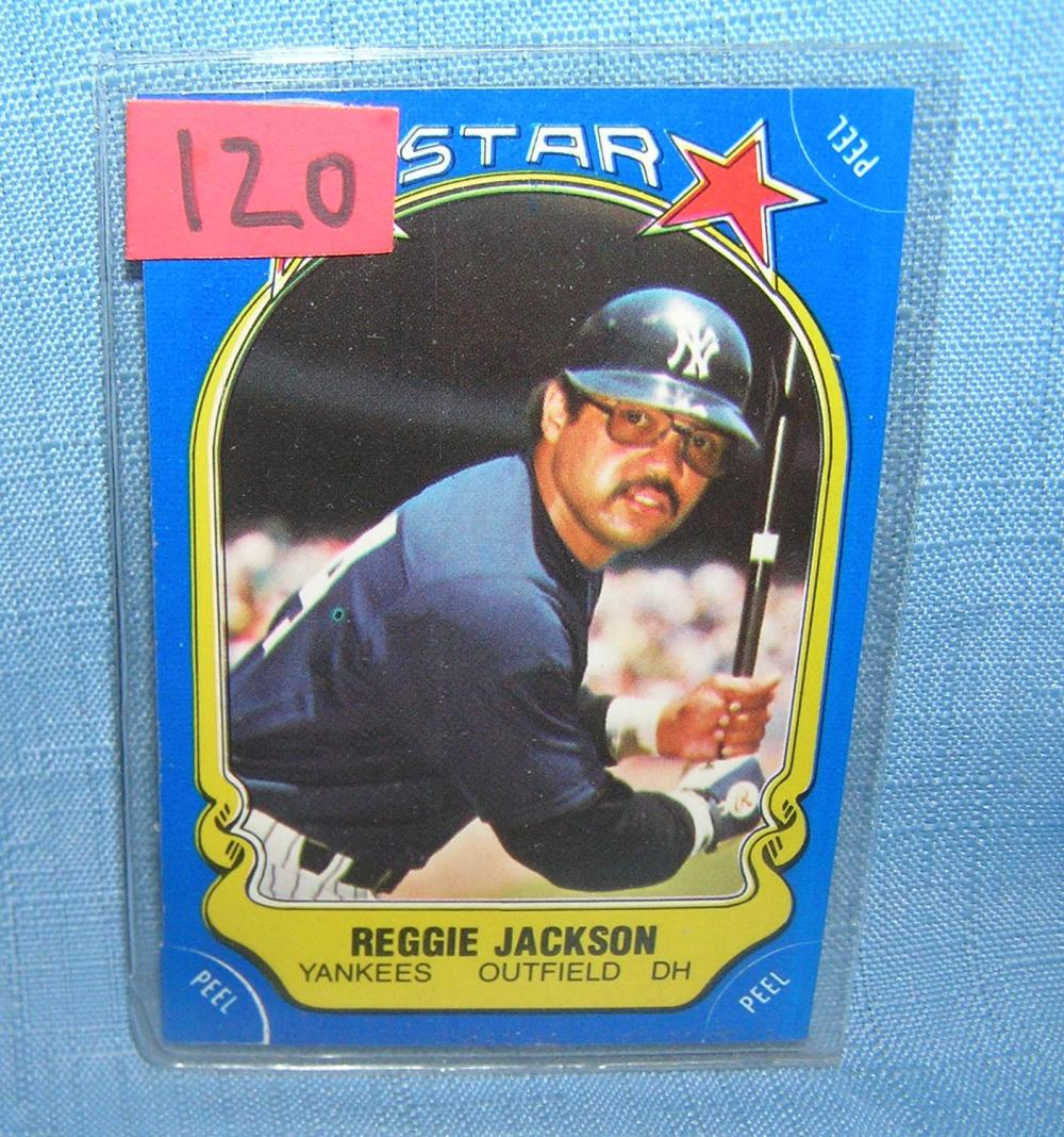 Lot 120: VINTAGE REGGIE JACKSON FLEER ALL STAR BASEBALL CARD