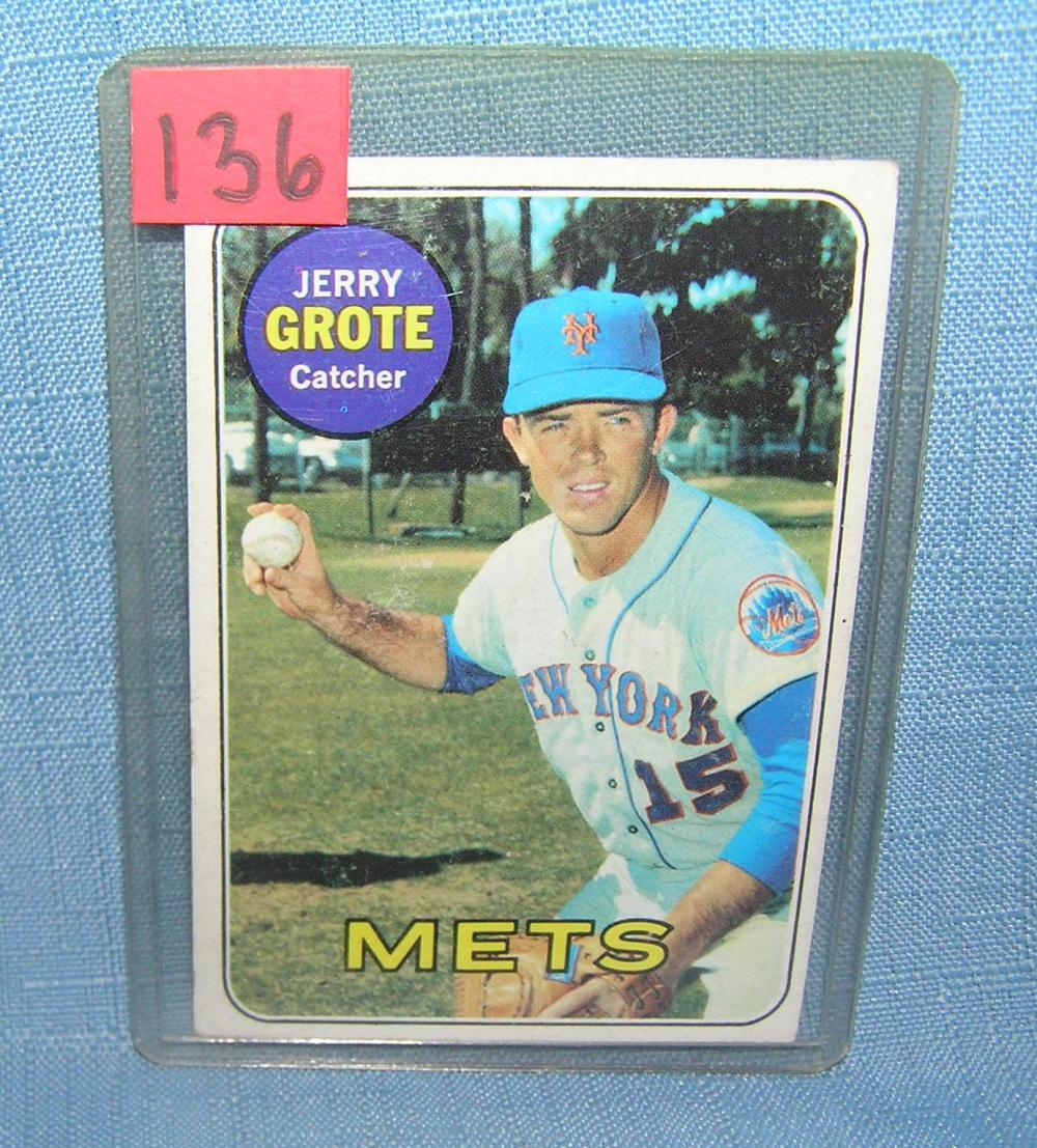 VINTAGE JERRY GROTE NY METS ALL STAR BASEBALL CARD