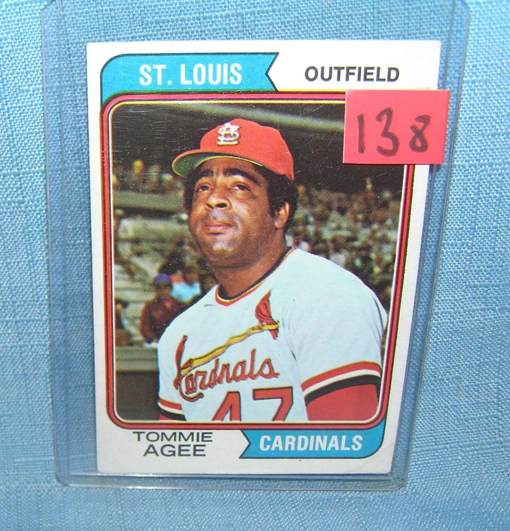 VINTAGE TOMMIE AGEE ALL STAR BASEBALL CARD