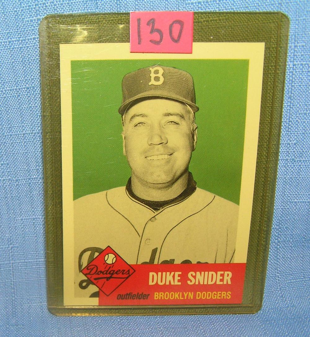 DUKE SNIDER ALL STAR RETRO BASEBALL CARD