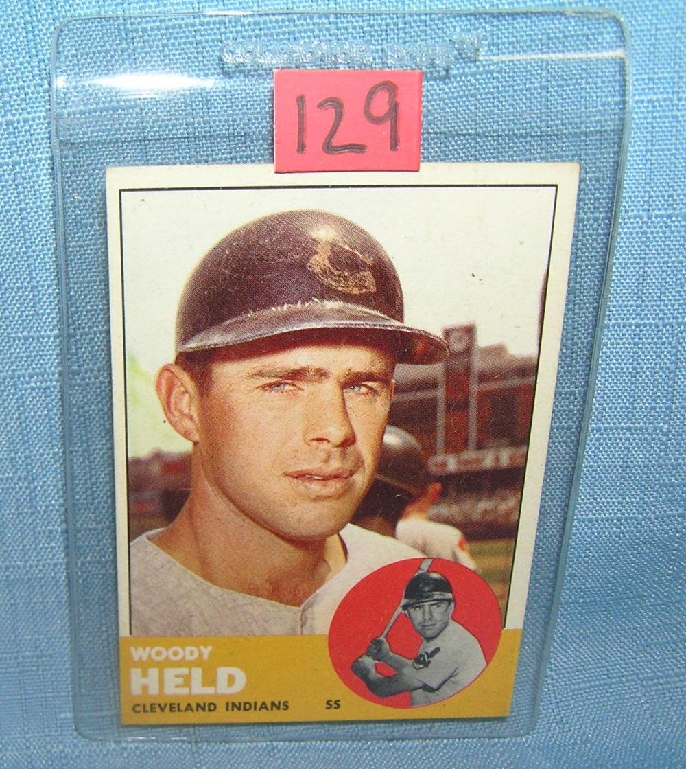 VINTAGE WOODY HELD 1963 TOPPS ALL STAR BASEBALL CARD