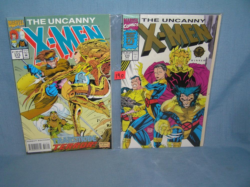 PAIR OF VINTAGE XMEN COMIC BOOKS