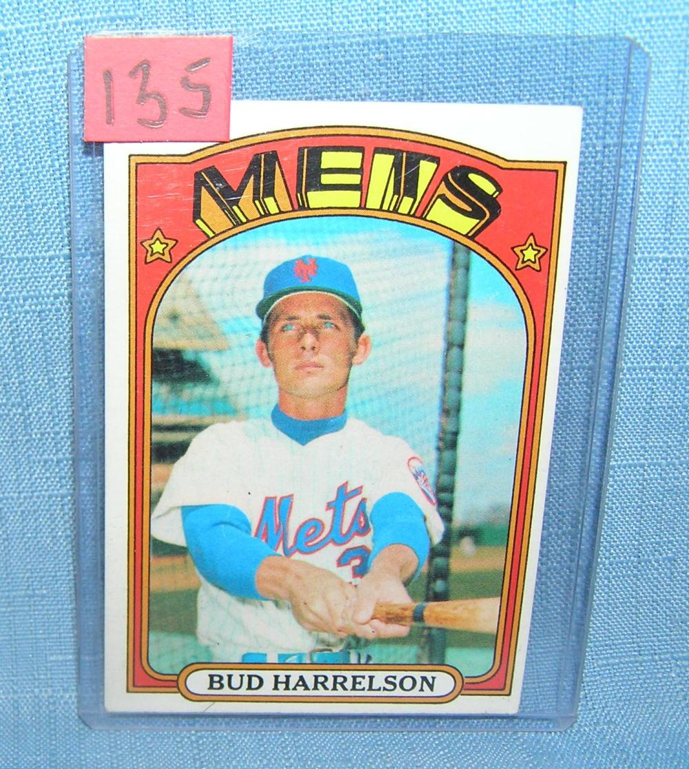 VINTAGE BUD HARRELSON NY METS ALL STAR BASEBALL CARD