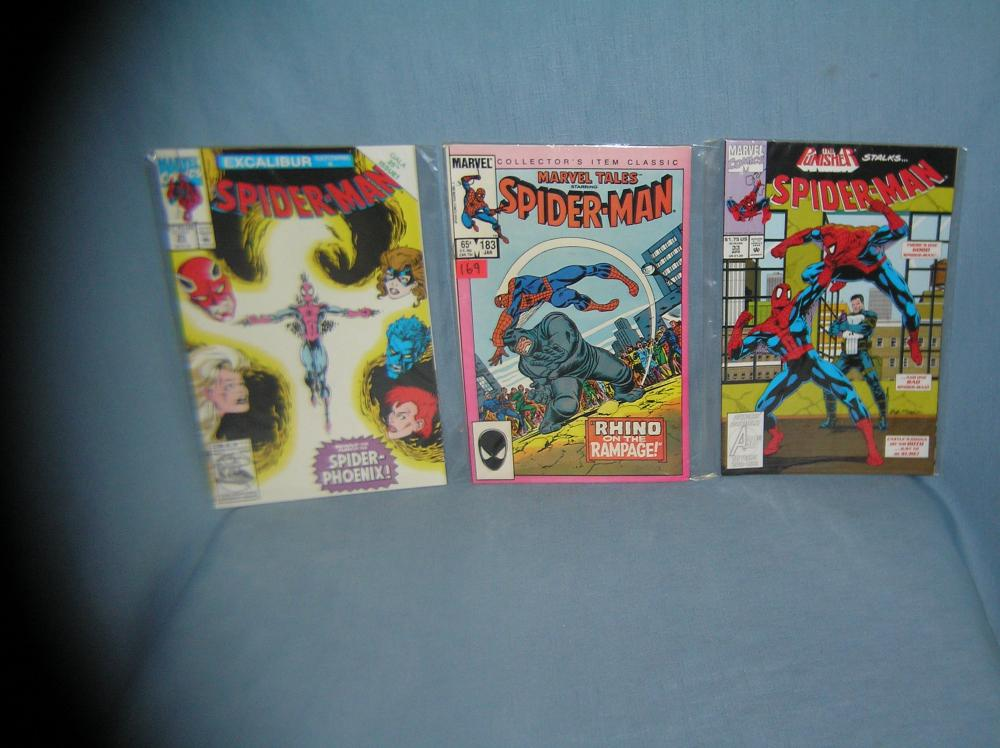 GROUP OF 3 VINTAGE MARVEL SPIDERMAN COMIC BOOKS