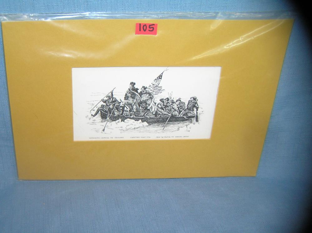 WASHINGTON CROSSING THE DELAWARE PRINT