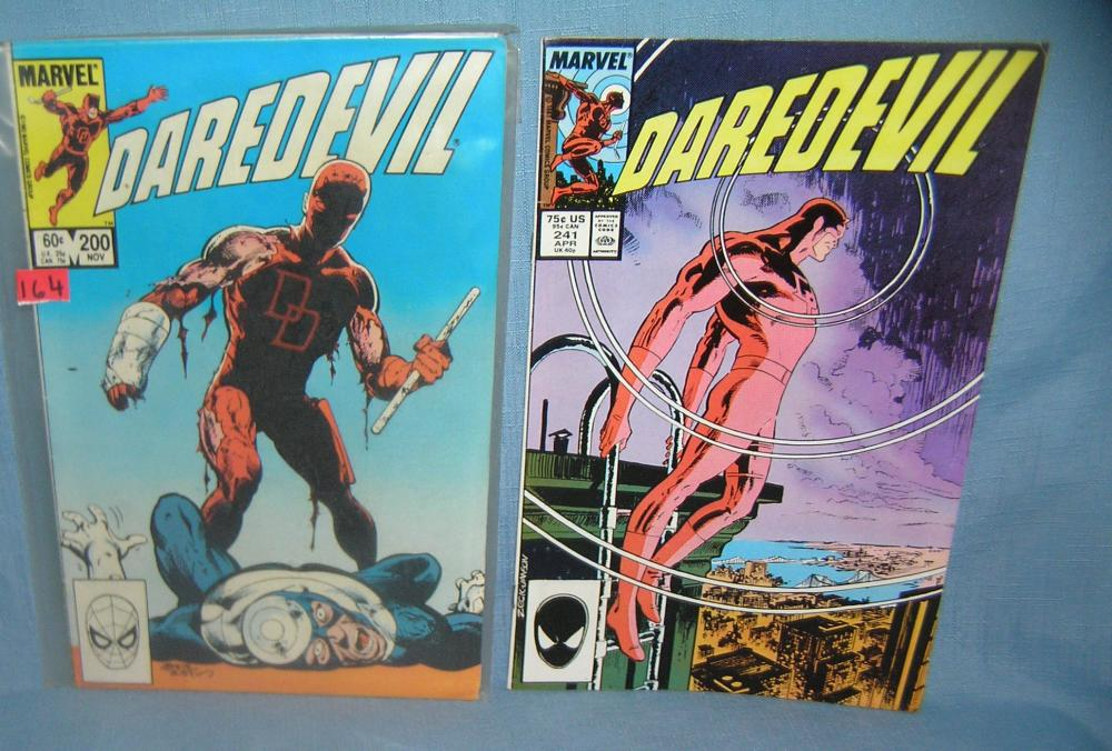 PAIR OF VINTAGE DAREDEVIL COMIC BOOKS