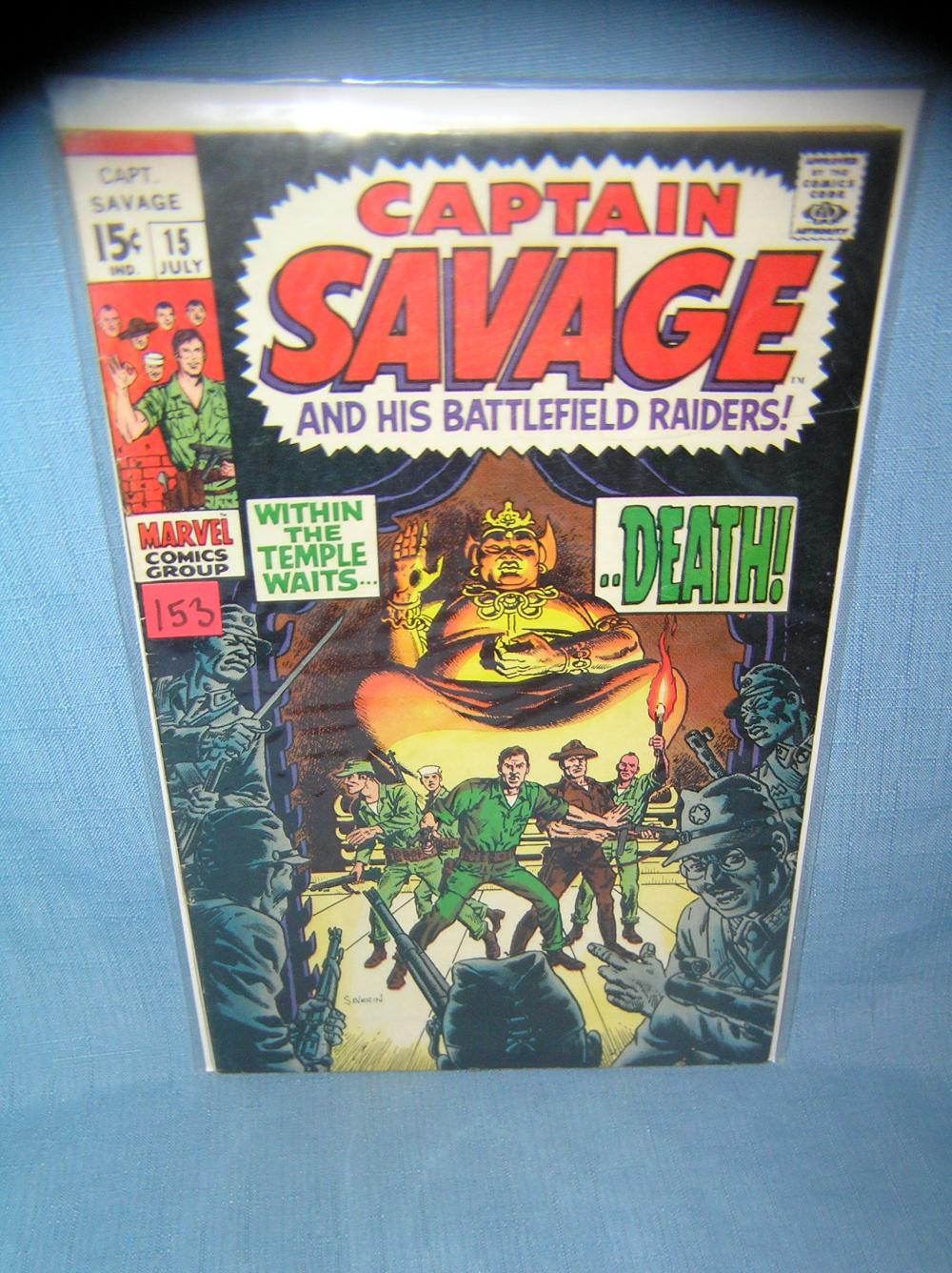 EARLY CAPT. SAVAGE COMIC BOOK