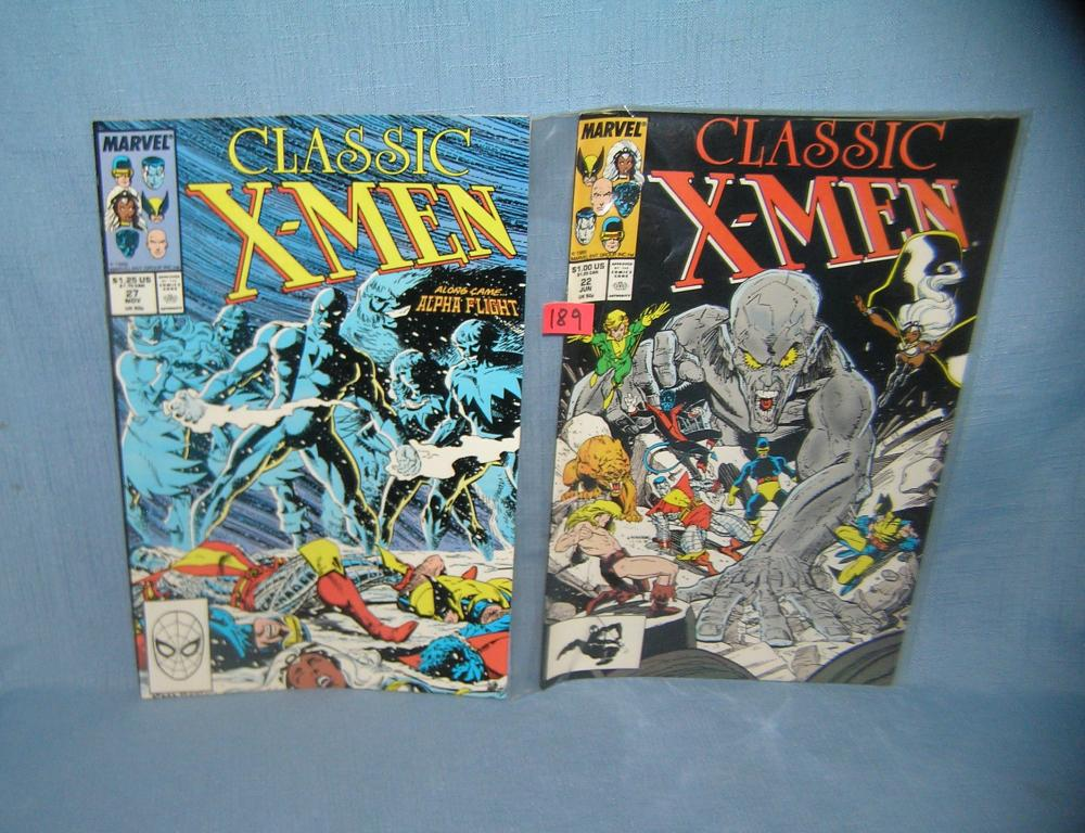 Lot 189: PAIR OF VINTAGE XMEN COMIC BOOKS